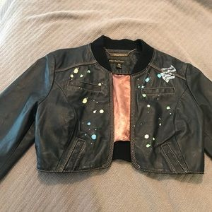 Jackets & Coats - Black rock and roll leather jacket